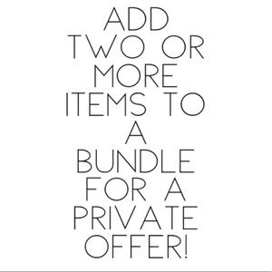 Jewelry - Private discount on bundles